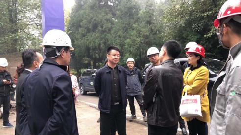 文旅集团董事长周万平一行检查蒙顶山景区提升改造工程项目建设情况